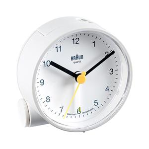 德國BRAUN百靈|經典圓型旅行鬧鐘-白(BNC001WHWH)