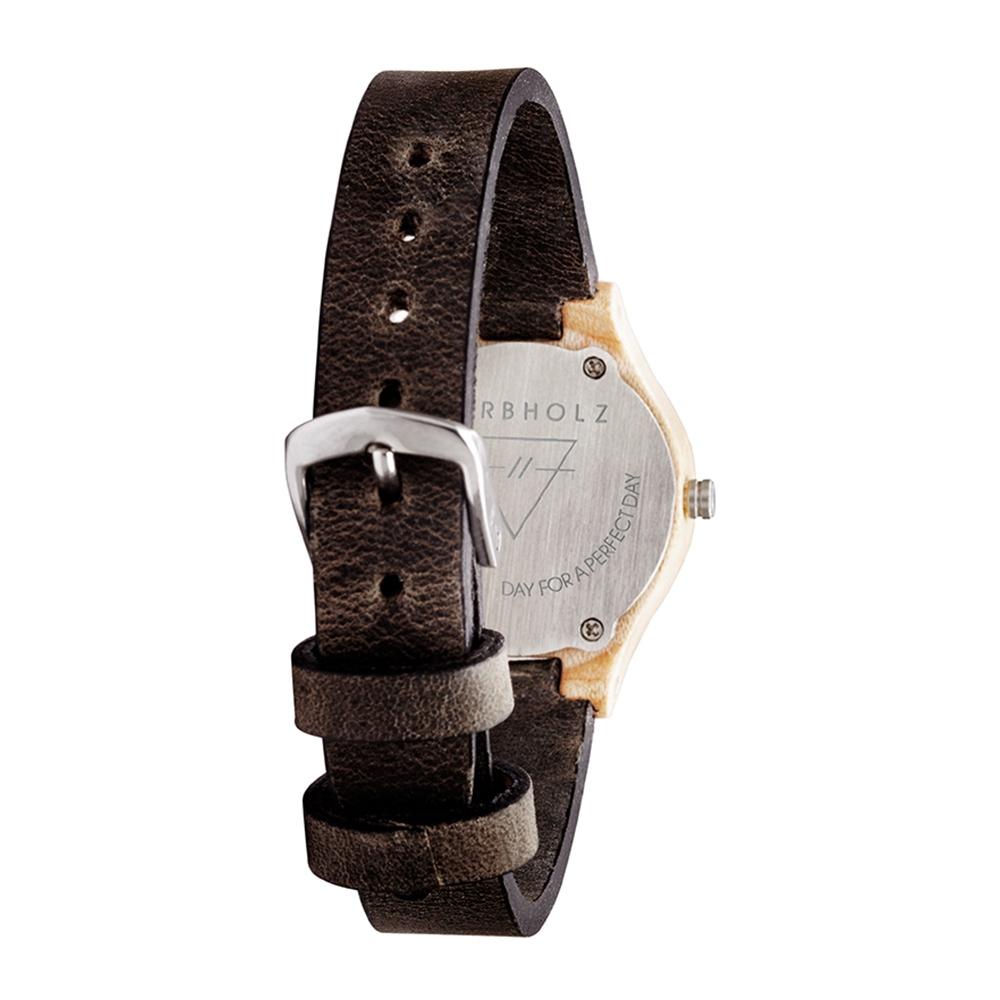 KERBHOLZ|原木手錶 Adelheid-楓木 (真皮錶帶)