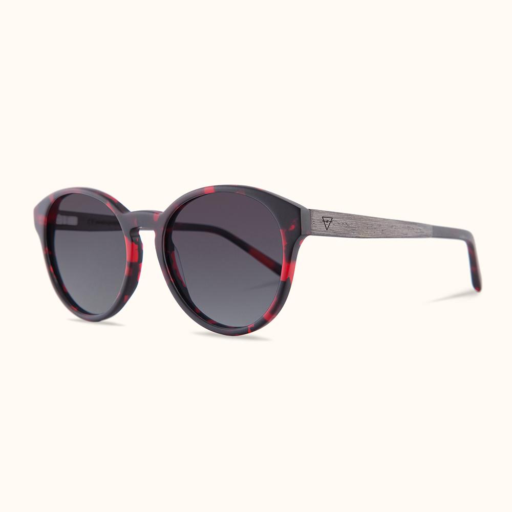 KERBHOLZ|原木太陽眼鏡 Leopold-時髦紅