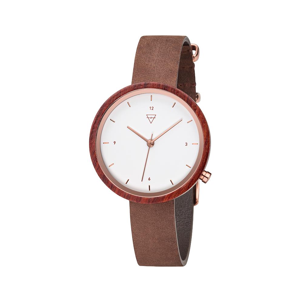 KERBHOLZ|原木手錶 Hilde-花梨木(棕褐)