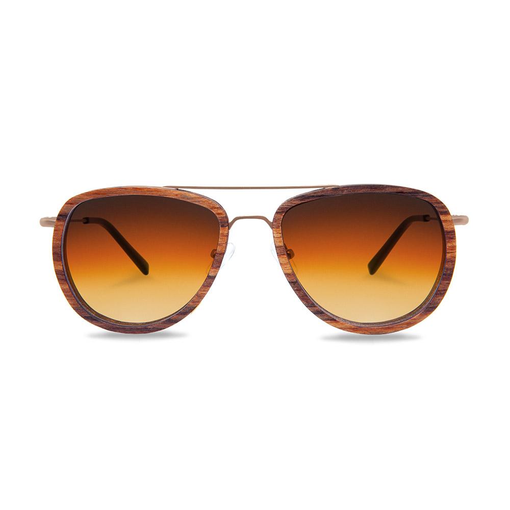 KERBHOLZ|原木太陽眼鏡 Ferdinand -斑馬木/漸層橘鏡片