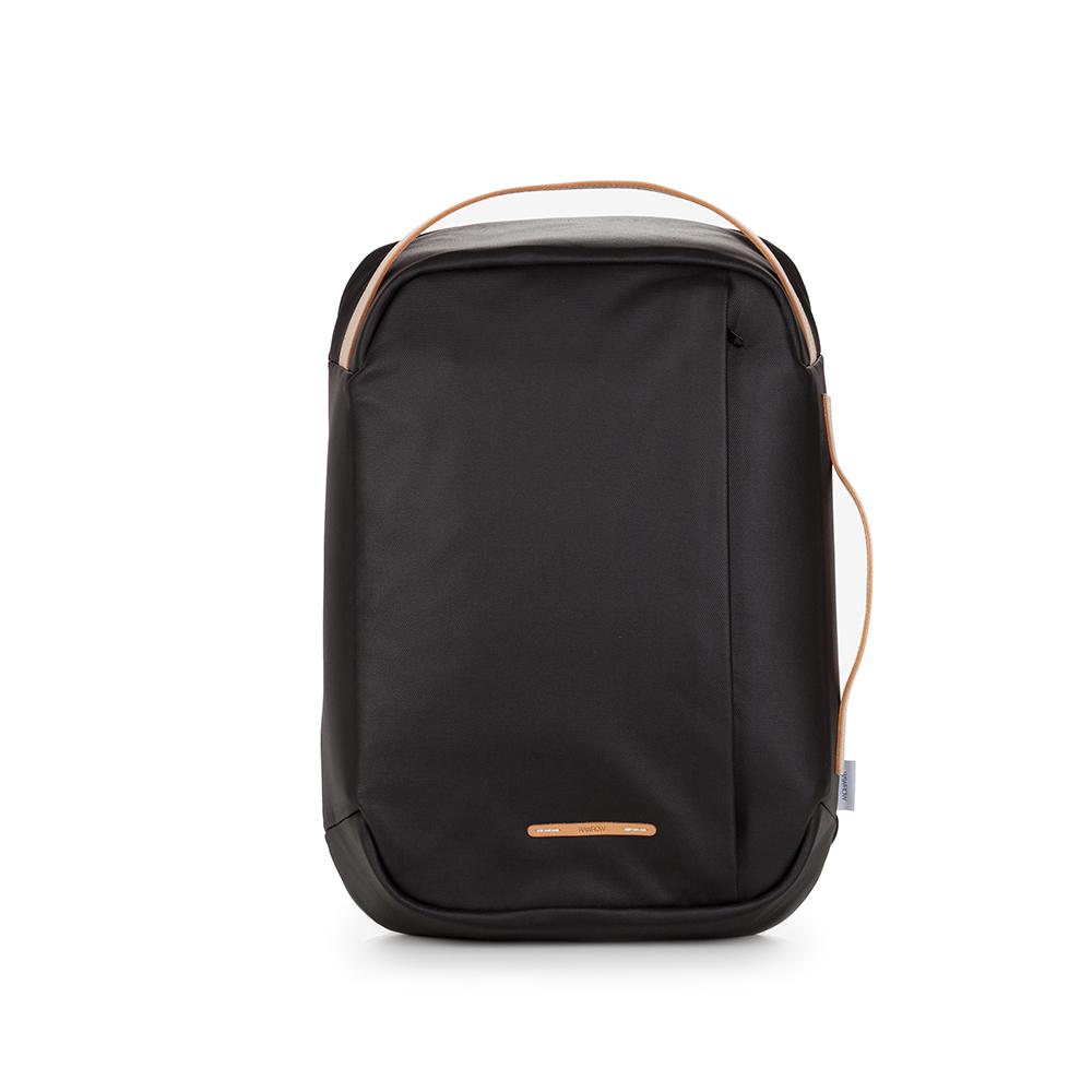 RAWROW|帆布系列-15吋三用時尚後背包(手提/後背/肩背)-墨黑-RBP113BK