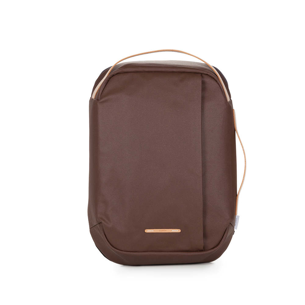 RAWROW|帆布系列-15吋三用時尚後背包(手提/後背/肩背)-深棕-RBP113BR