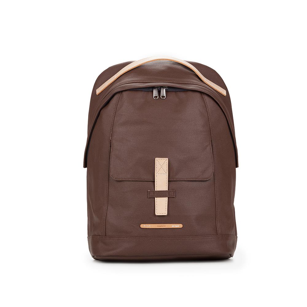 RAWROW|帆布系列-13吋個性後背包-深棕-RBP431BR