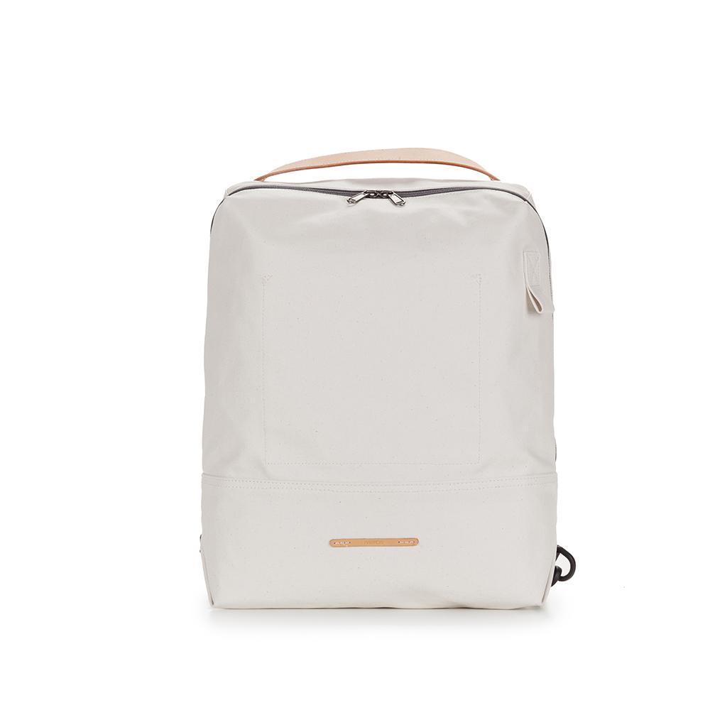 RAWROW|帆布系列-13吋極簡兩用後背包(後背/手提)-亮白-RBP522WH