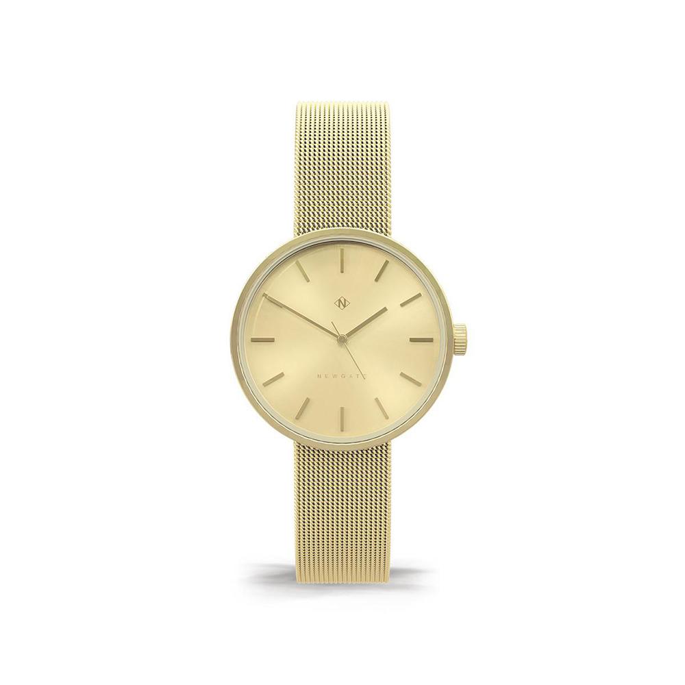 Newgate   ATOM-時尚金-金色錶面-不鏽鋼米蘭帶-32mm