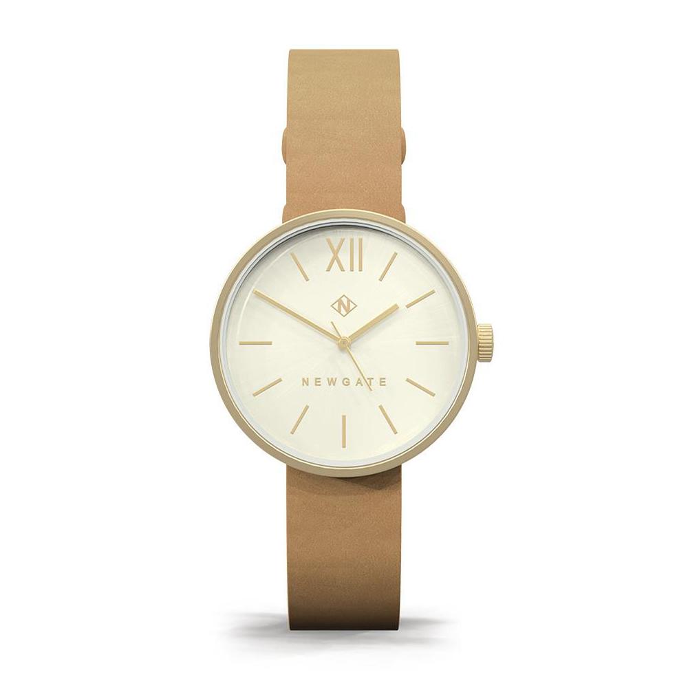 Newgate | ATOM-香檳棕-皮革錶帶-32mm