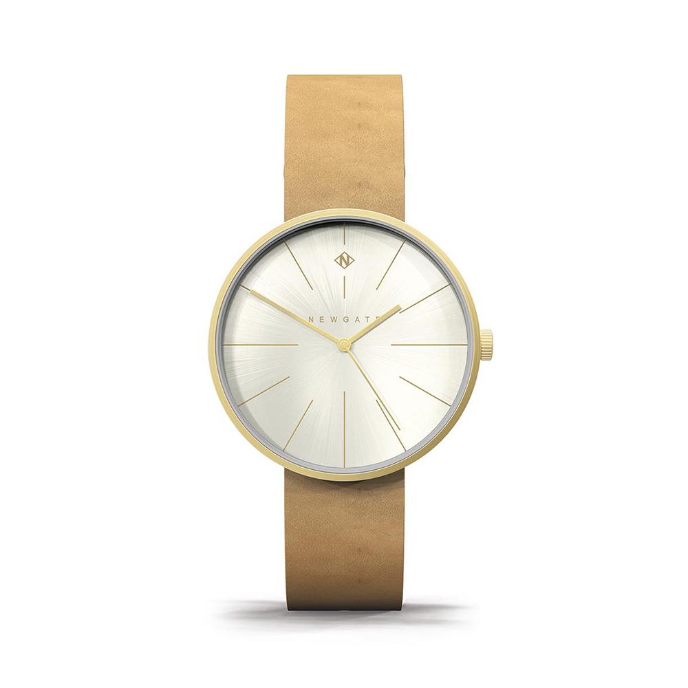 Newgate | NEW YORK-楓糖棕-皮革錶帶-40mm