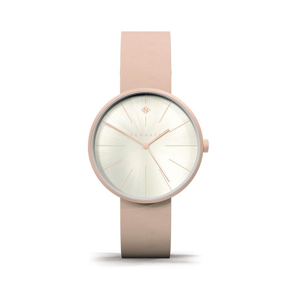 Newgate   NEW YORK-玫瑰粉-皮革錶帶-40mm