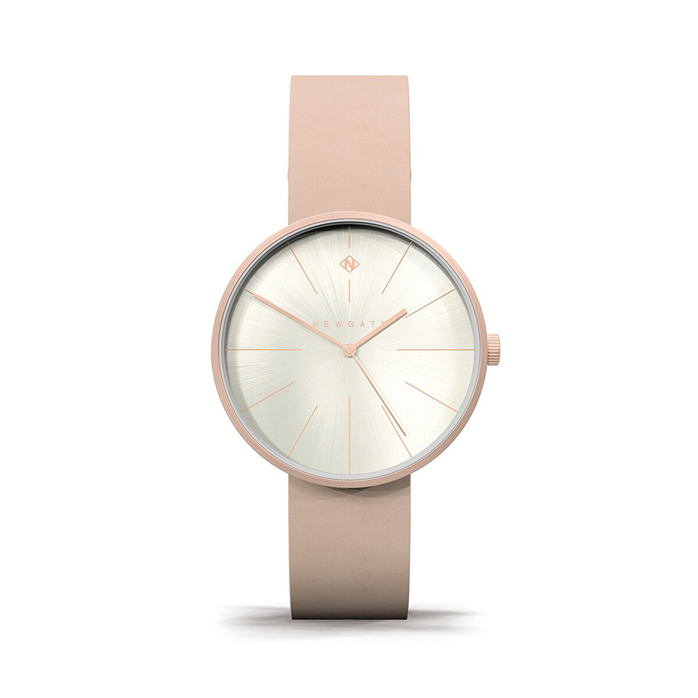 Newgate | NEW YORK-玫瑰粉-皮革錶帶-40mm