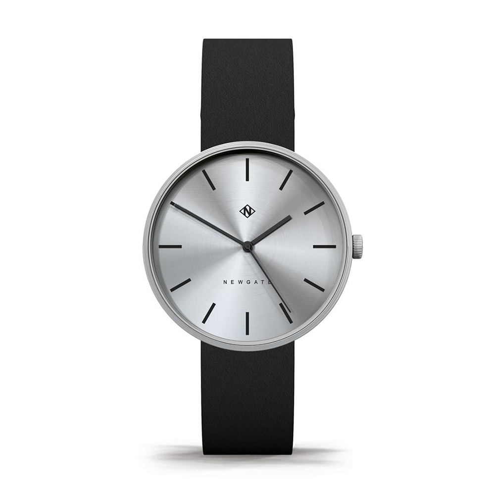 Newgate | DRUMLINE-經典銀-義大利皮革錶帶-40mm