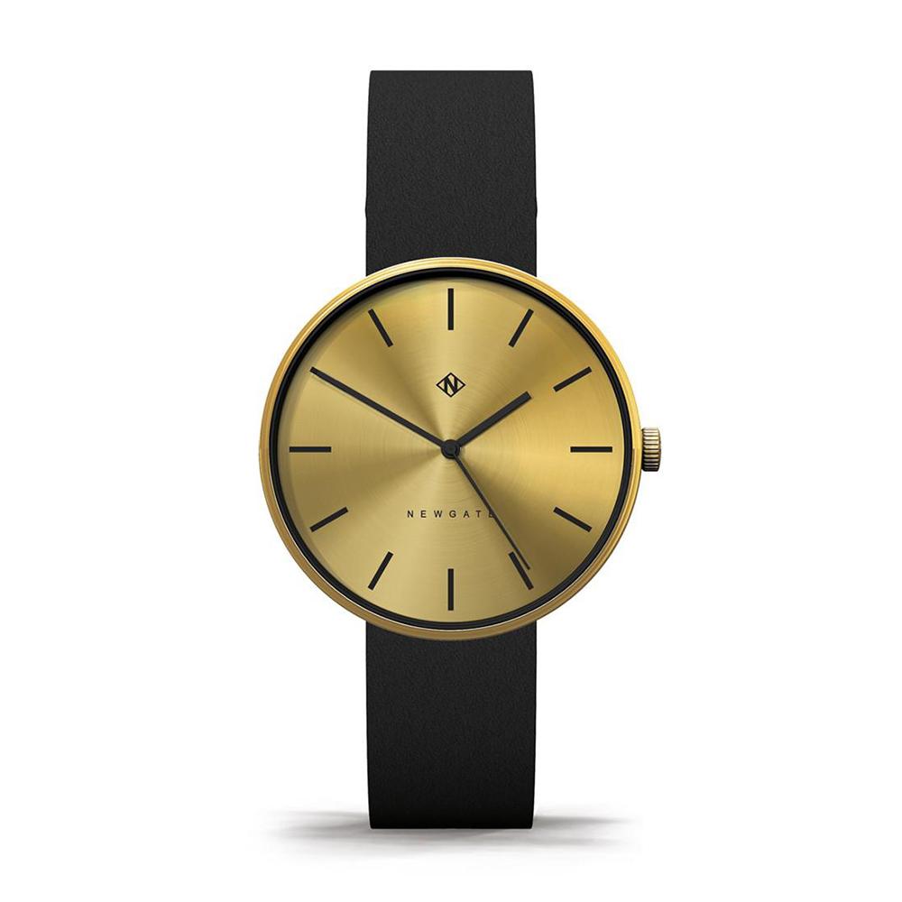Newgate   DRUMLINE-古銅金-義大利皮革錶帶-40mm