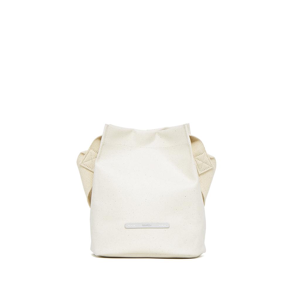 RAWROW|城市系列-雙背帶帆布水桶包(小)-亮白-RCR710WH