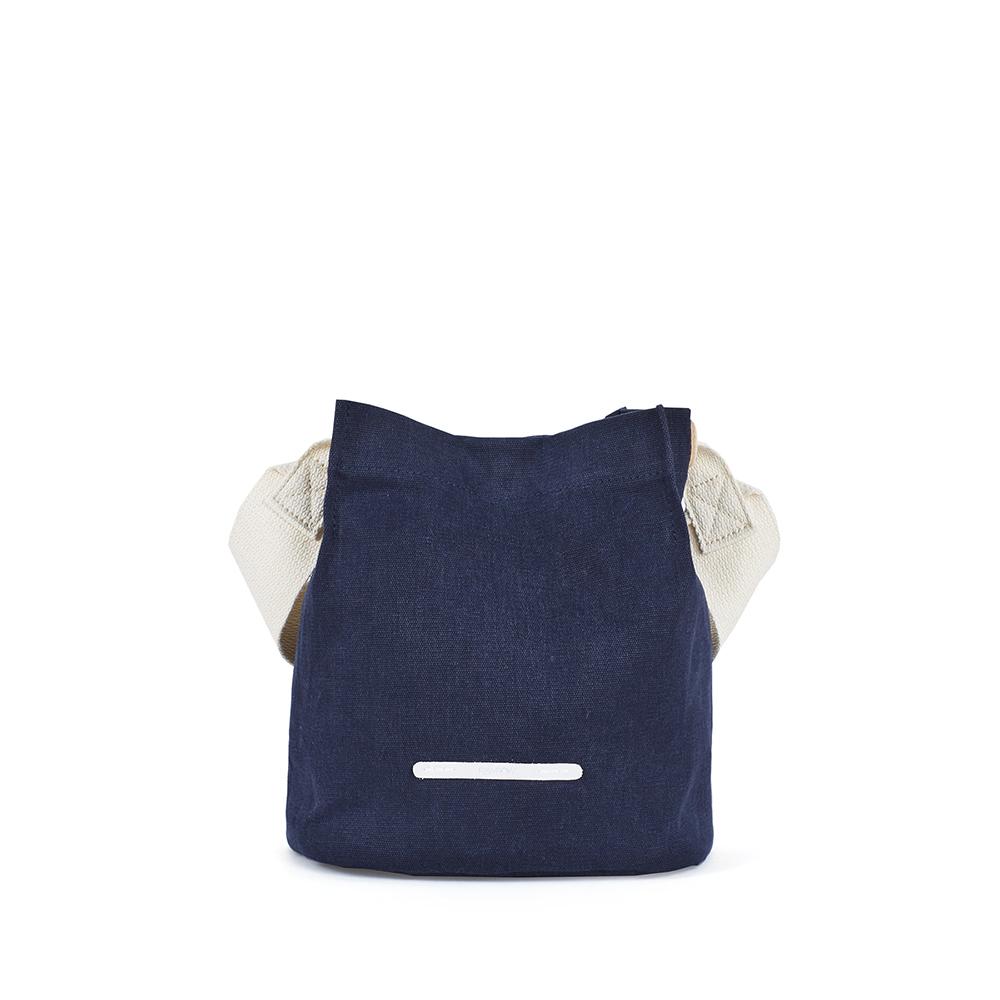 RAWROW 城市系列-帆布水桶包(小)-海軍藍-RCR711NA
