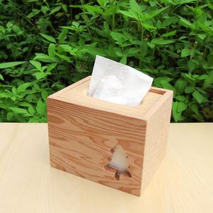 HappyWood|台灣檜木小樹方形衛生紙盒