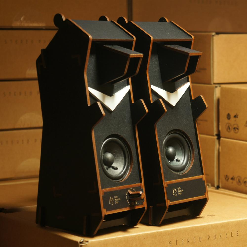 小山坡|立體拼圖音響 - 台灣黑熊(雙聲道)