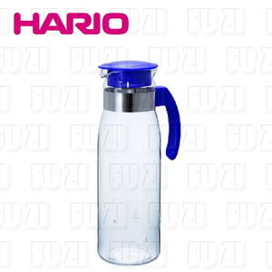 【HARIO】耐熱抗菌 玻璃冷水壼1400ml (藍色)