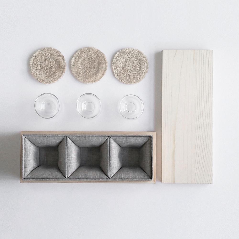 studio KDSZ|裏-外 雙層玻璃杯系列 - 茶觀 品茗杯組