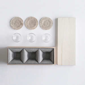 【母親節限量包裝】studio KDSZ 裏-外 雙層玻璃杯系列 - 茶觀 品茗杯組