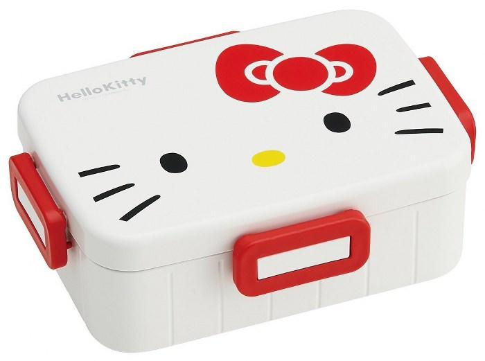 Skater 無印風便當盒 保鮮餐盒 650ML-Kitty大臉風-白