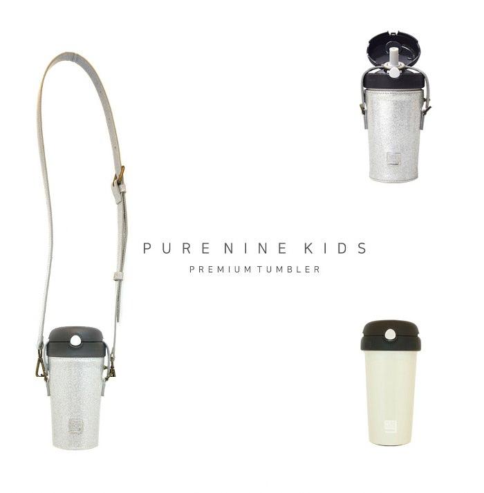 (複製)韓國PURENINE|Kids兒童時尚彈蓋保溫杯-290ML-白色皮套+灰蓋瓶