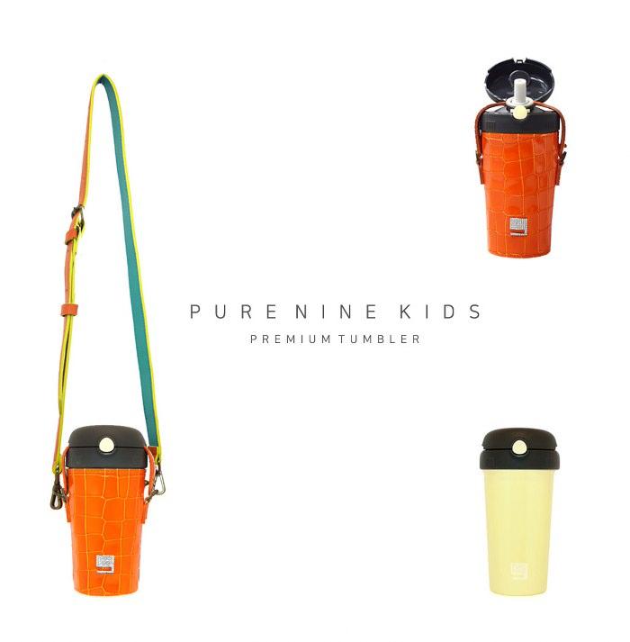 (複製)韓國PURENINE Kids兒童時尚彈蓋保溫杯-290ML-墨綠色皮套+灰蓋瓶組