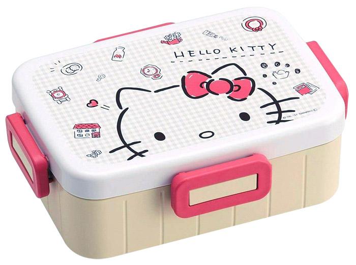 (複製)Skater|無印風便當盒 保鮮餐盒 650ML-Kitty大臉風-白