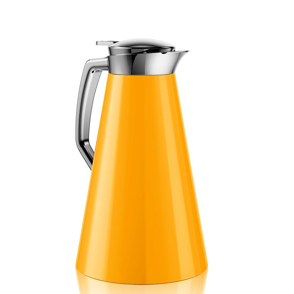 德國EMSA|頂級不鏽鋼真空保溫壺 晶鑽內膽 巧手壺CASCAJA  1.0L 鮮橘