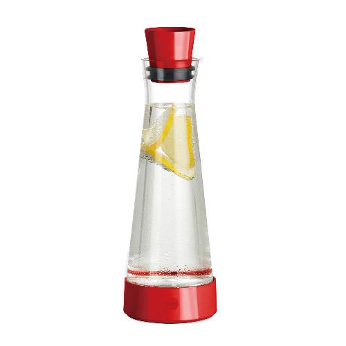 德國EMSA|頂級玻璃保冷水瓶 含保冰裝置 德國原裝進口(保固2年)-彩霞紅