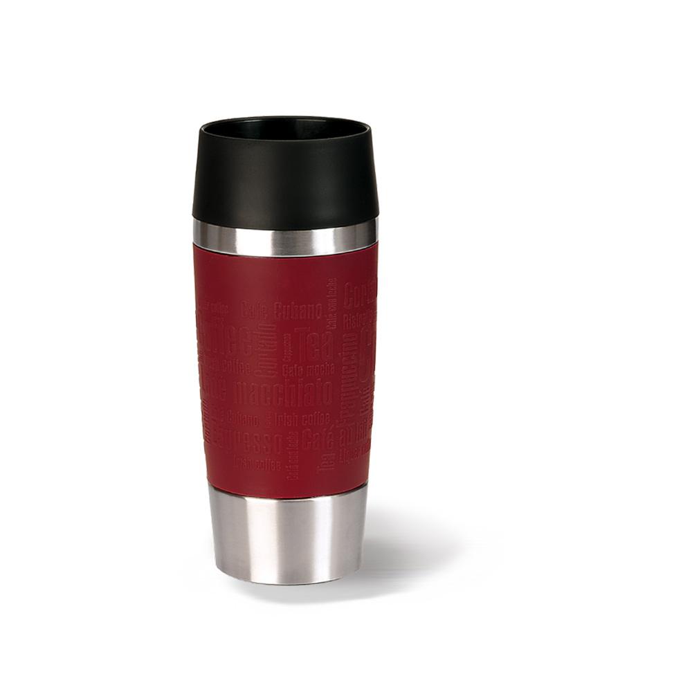 德國EMSA|隨行馬克保溫杯TRAVEL MUG 360ml-富貴紅