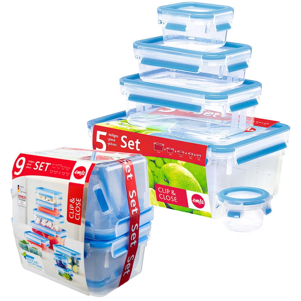 德國EMSA 專利上蓋無縫3D保鮮盒德國原裝進口-PP材質(保固30年)(超值14件組)
