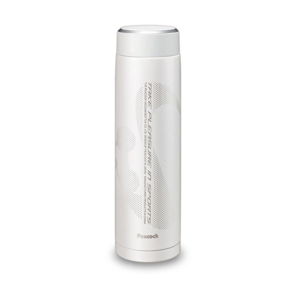日本孔雀Peacock|運動涼快不銹鋼保溫杯800ML-白色