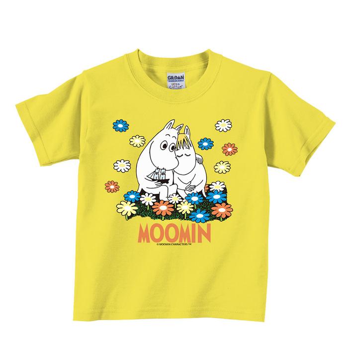 YOSHI850 Moomin嚕嚕米正版授權:T恤【Fall In Love】兒童短袖 T-shirt