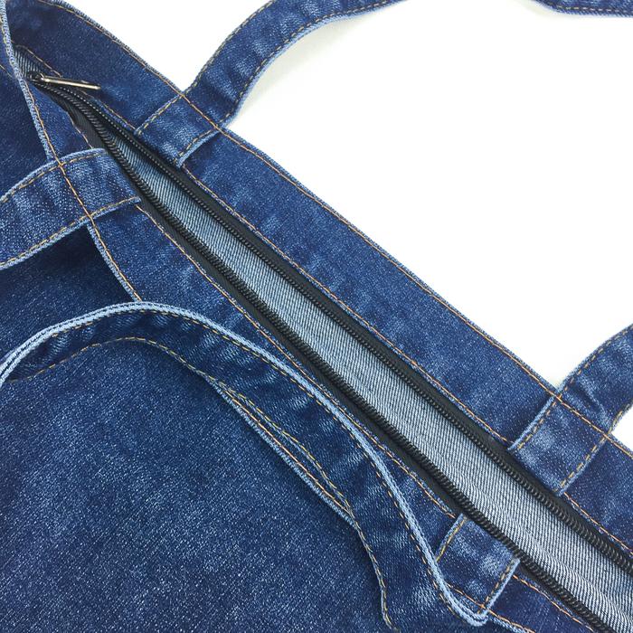 YOSHI850|小王子經典版授權:牛仔購物包【深藍】