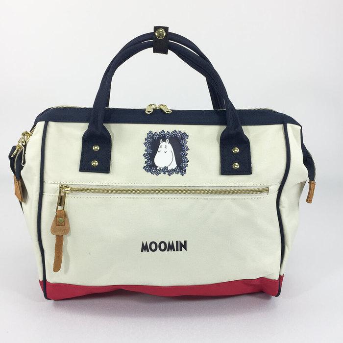(複製)YOSHI850|嚕嚕米正版授權:寬口手提肩背包【黑】