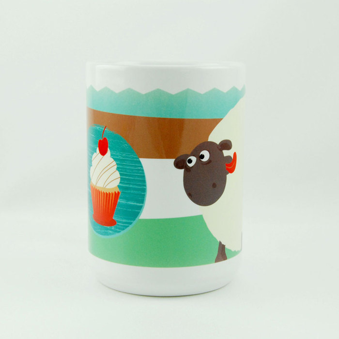 (複製)YOSHI850|笑笑羊正版授權:馬克杯【02 Shirley的櫻桃蛋糕】