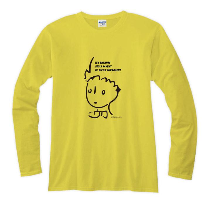 (複製)YOSHI850 小王子電影版授權【03 辛苦的燈夫】長袖T-shirt (修身/中性)7種顏色