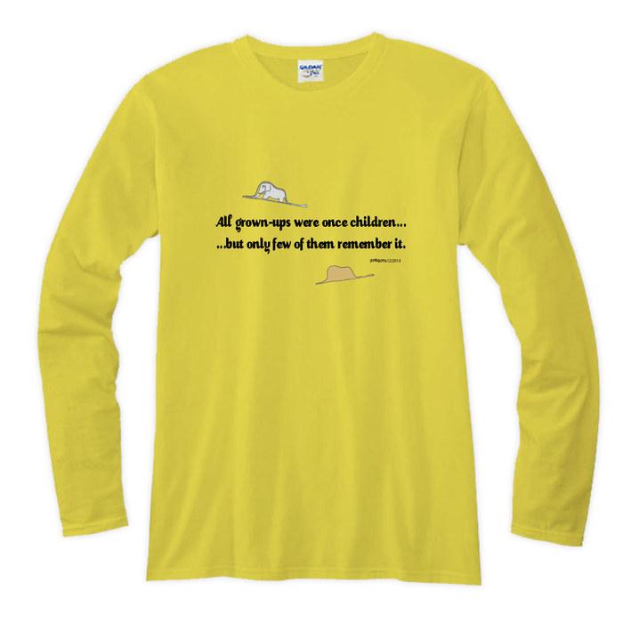 (複製)YOSHI850 小王子電影版授權【08 哭泣的小王子】長袖T-shirt (修身/中性)7種顏色