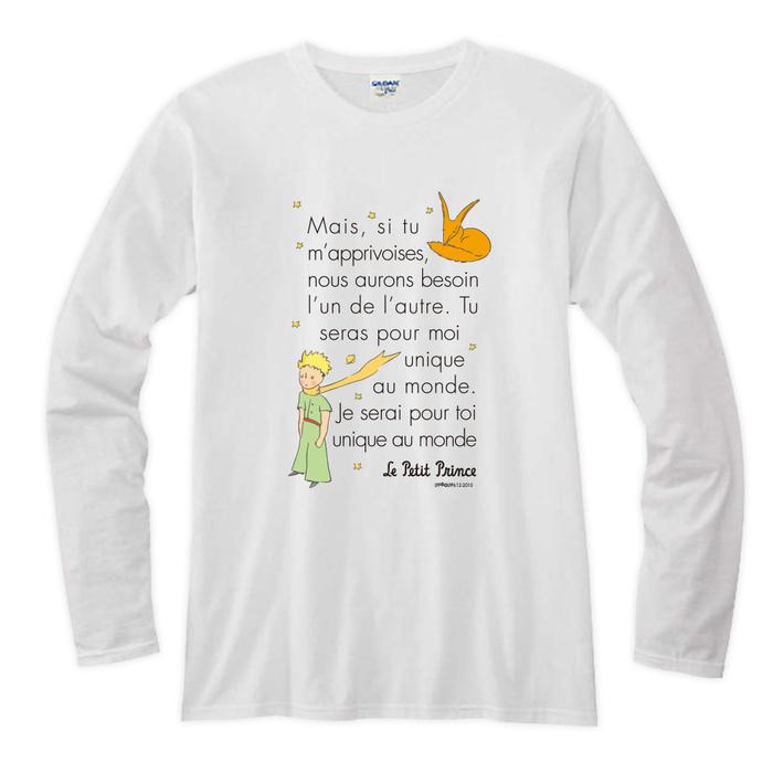 (複製)YOSHI850|小王子電影版授權【14 跟你說聲Hi】長袖T-shirt (修身/中性)7種顏色