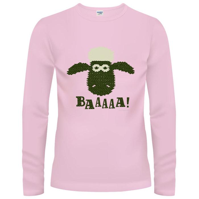 (複製)YOSHI850 笑笑羊正版授權【19 我愛粉紅】長袖T-shirt (修身)粉紅色