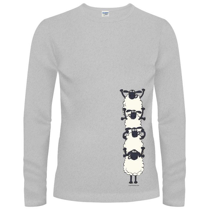 (複製)YOSHI850|笑笑羊正版授權【25 小羊拖拉機】長袖T-shirt (修身/中性)2種顏色