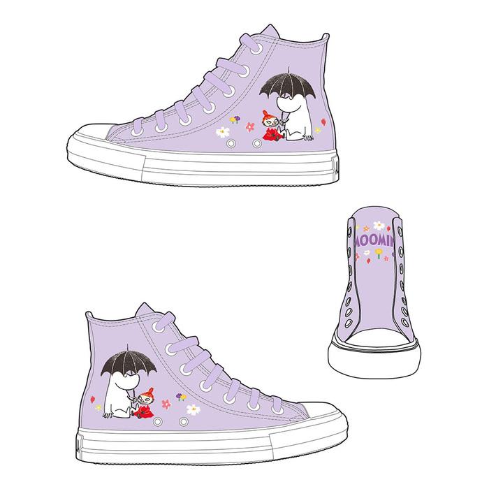 (複製)YOSHI850|Moomin嚕嚕米正版授權:帆布鞋【01 白鞋紅帶】