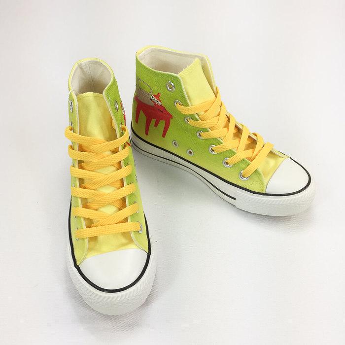 (複製)YOSHI850|Moomin嚕嚕米正版授權:帆布鞋【13白鞋咖帶】