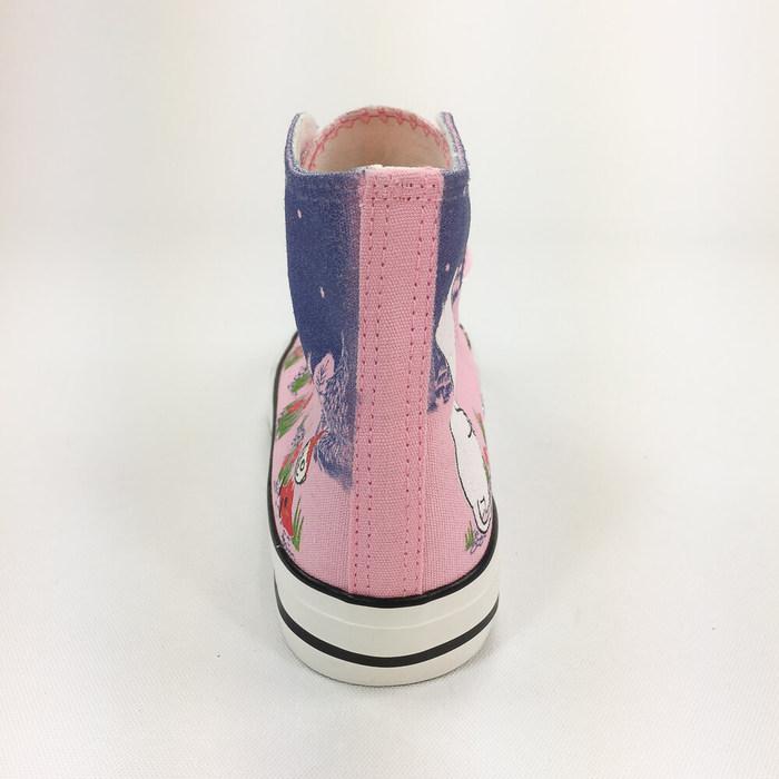 (複製)YOSHI850|Moomin嚕嚕米正版授權:帆布鞋【19白鞋藏青帶】