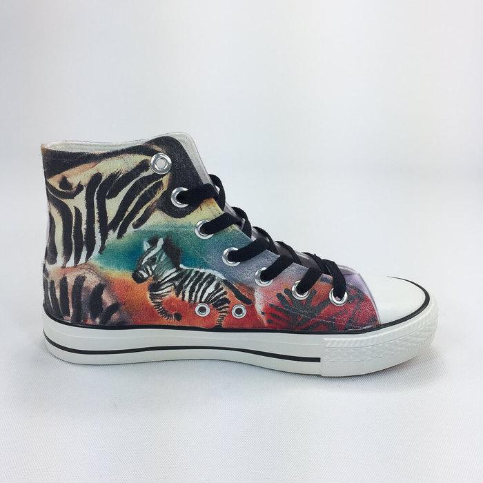 (複製)YOSHI850|新創設計師系列:帆布鞋【05 HIGH BY THE BEACH(粉鞋粉帶)】