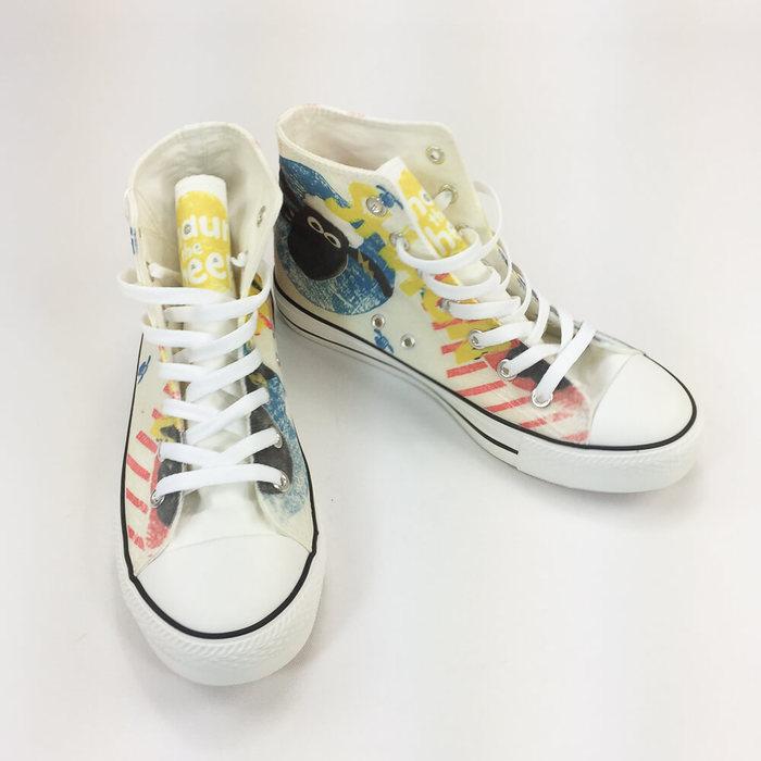 (複製)YOSHI850|Moomin嚕嚕米正版授權:帆布鞋【16白鞋白帶】