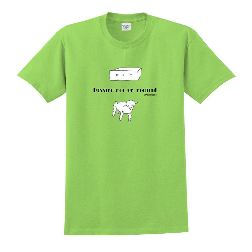 YOSHI850|小王子經典版授權【幫我畫隻羊】短袖中性T-shirt (果綠)