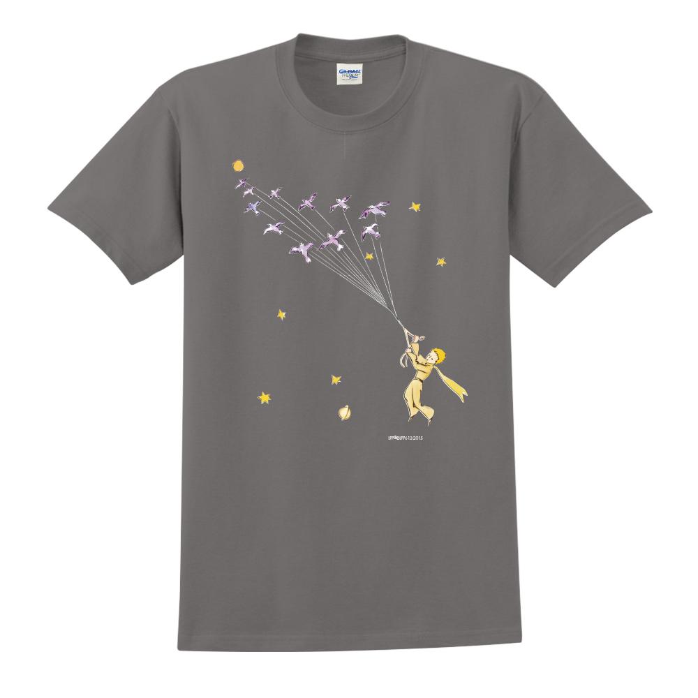 YOSHI850|小王子經典版授權【帶我去旅行】短袖中性T-shirt (深灰)