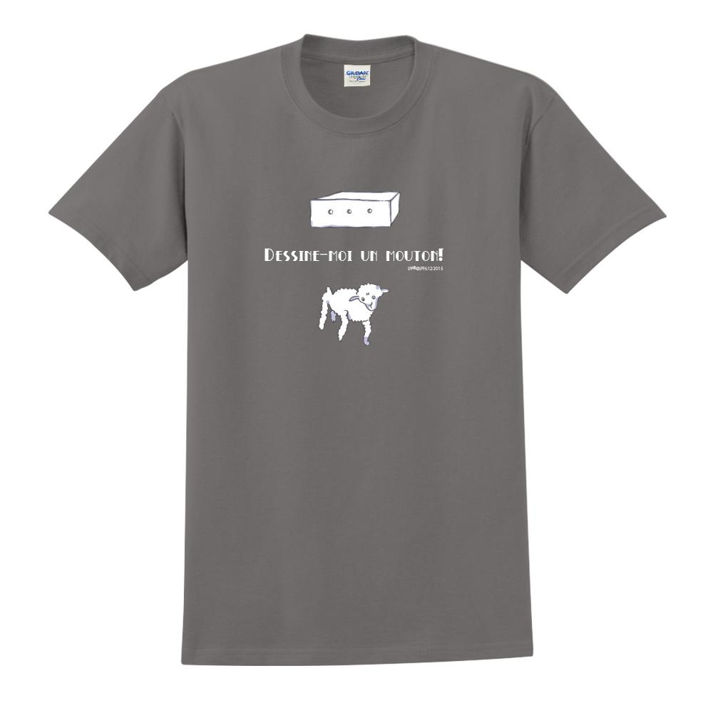 YOSHI850|小王子經典版授權【幫我畫隻羊】短袖中性T-shirt (深灰)