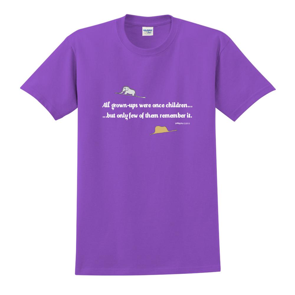 YOSHI850|小王子經典版授權【純真】短袖中性T-shirt (紫)